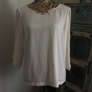 Lauren Conrad Cream Blouse M